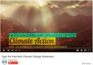 Interfaith Climate Change Statement—An Exercise in Absurdity?