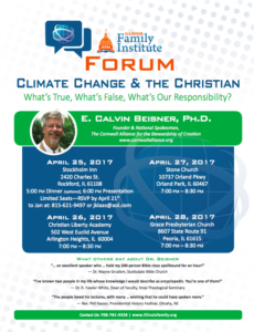 Dr. Beisner to Speak at Four Events in Illinois, April 25-28