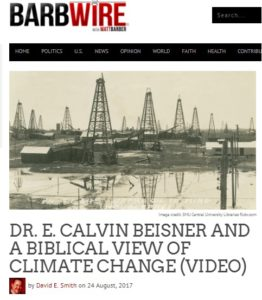 Illinois Family Institute Posts Video of Dr. Beisner's Presentation on Climate Change and Christian Responsibility