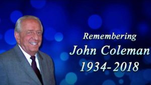 Mourning the Loss of John Coleman—a Gentleman and a Scholar
